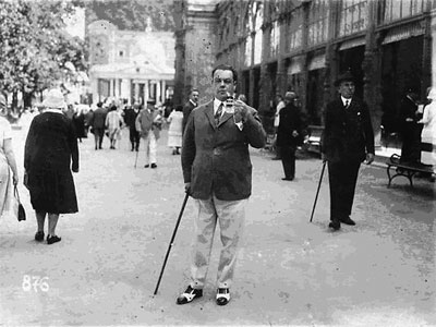 Omiljeni pevač STANISLAVA BINIČKOG Mijat Mijatović, Prag 1925