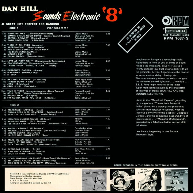 DAN HILL Sounds electronic 8 b