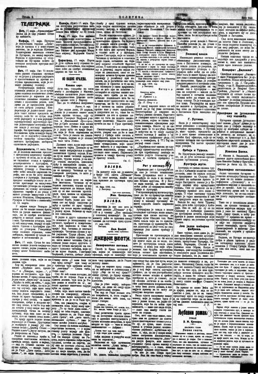 S BINICKI POLITIKA br. 842 1906 str 2 17 maj