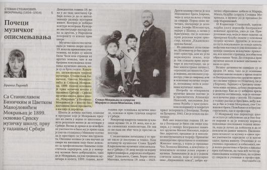 Osnivanje muz skole MOKRANJAC 18991